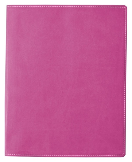 Бизнес-тетрадь Attache клэр А5 120л, клетка, кожзам, розовая  Attache