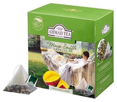 Чай Ahmad Tea манговое суфле зеленый пирамидки 20штx1,8г 1400  Ahmad Tea