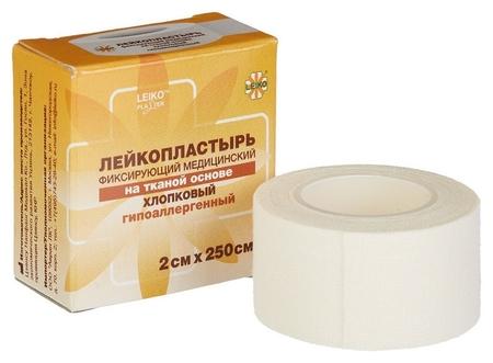 Перевяз. ср-ва лейкопластырь 2х250см тканевый в картоне 24 шт/уп  Leiko