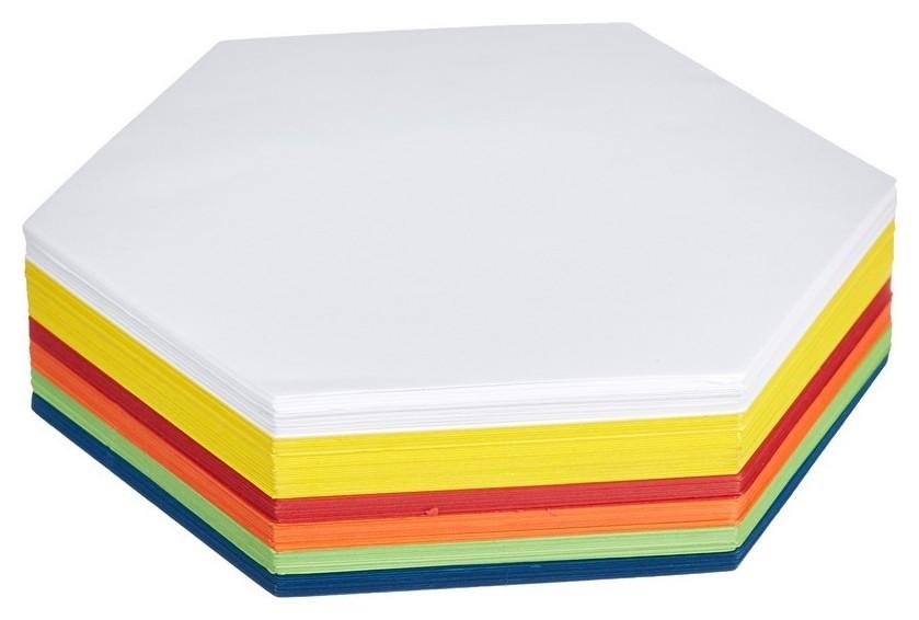 Карты модерационные шестиугольник 250 листов  NNB