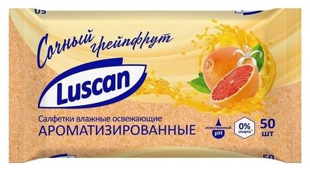 Салфетки влажные Luscan освежающие 50шт  Luscan
