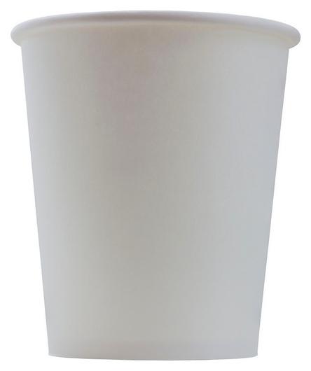 Стакан одноразовый бум 1-сл. D-80мм 250мл белый комус 50шт/уп  Комус