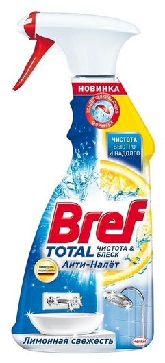 Средство для сантехники Bref Total лимонная свежесть, 500 мл  Bref