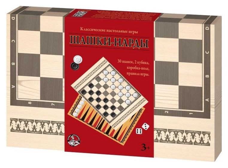 Настольная игра шашки-нарды классические арт.03790  Десятое королевство