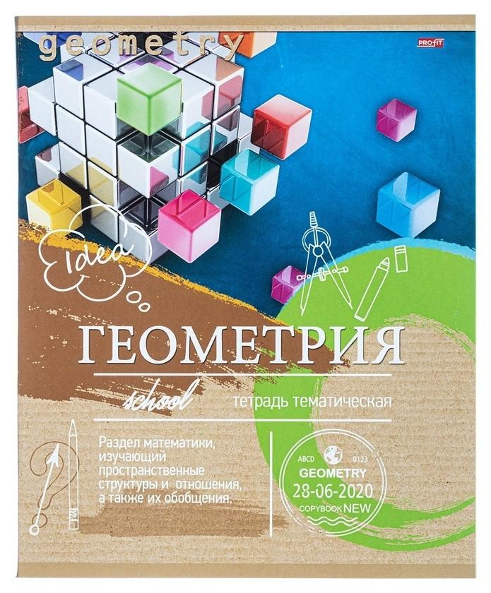 Тетрадь предметная а5,36л,мел.карт. геометрия эко-серия (36-6318) Проф-пресс