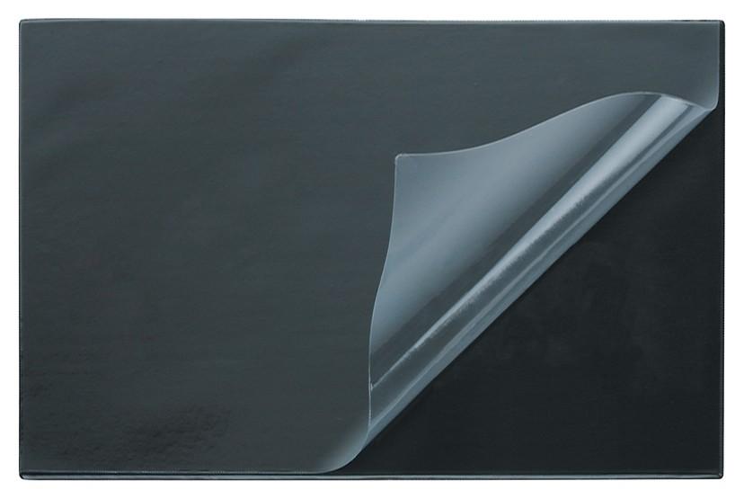 Коврик на стол Attache Economy 530х660мм черный с прозрачным верхним листом  Attache