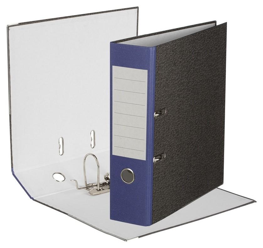 Папка-регистратор Attache Economy 80 мм мрамор с син кор.,мет.уг.,бум./бум  Attache