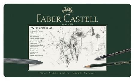 Набор карандашей ч/г Faber-castell Pitt Graphite,26 предм,метал. кор.112974 Faber-castell