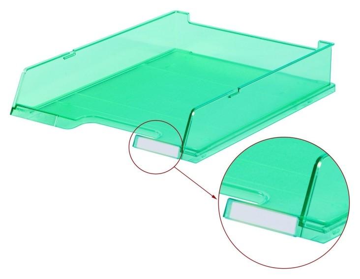 Лоток для бумаг HAN с инд.окном прозрачно-бирюзовый арт.ha1020/261, C4  Han