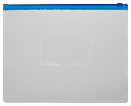Папка-конверт на молнии 228х335 синий  Attache