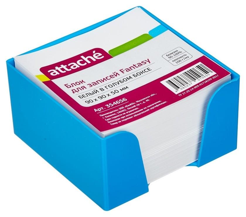 Блок для зап. в подставке Attache Fantasy 9х9х5 голубой белый блок 100г/92  Attache