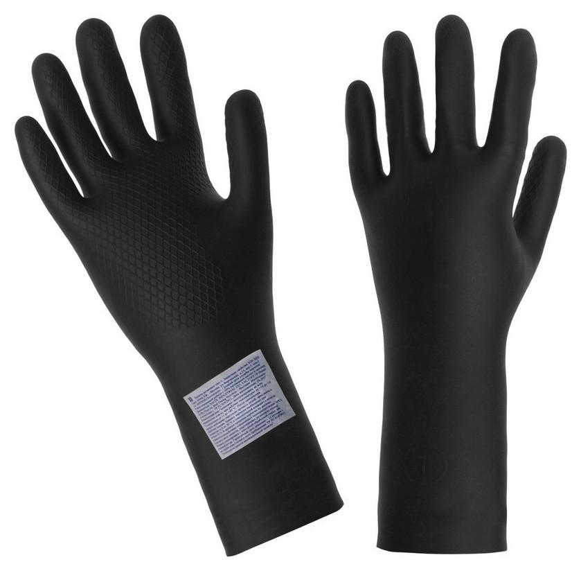 Перчатки защитные латекс КЩС тип I (Р.1)(к20щ20)  NNB
