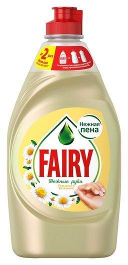 Средство для мытья посуды Fairy нежные руки ромашка и витамин Е 450мл  Fairy