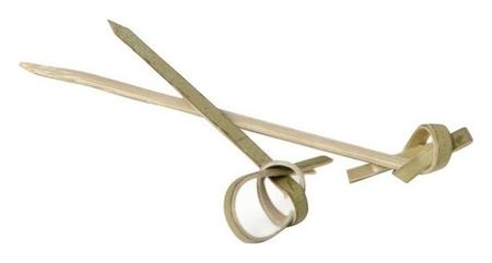 Пика для канапе бамбук завитки 90мм 100шт/уп 401-463  Paterra