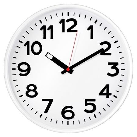 Часы настенные Troyka 78771783 круг., D305мм, плав.ход, пластик белый Troyka