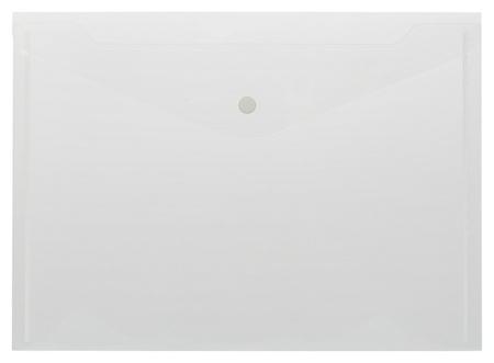 Папка-конверт на кнопке КНК 180 бесцв. прз. 10шт/уп Attache