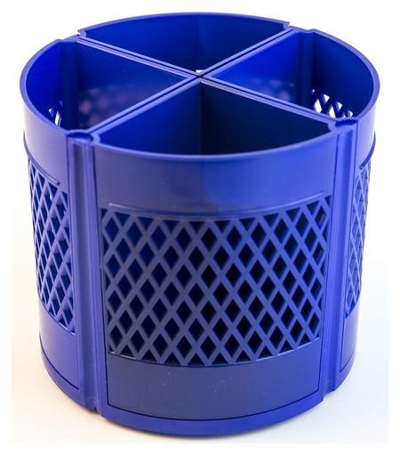 Подставка для канцелярских мелочей Attache квартет 8отд-й вращающаяся синий  Attache