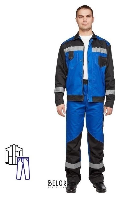 Спец.одежда летняя костюм мужской л21-кбр вас/черн.(Р.60-62) 182-188 NNB