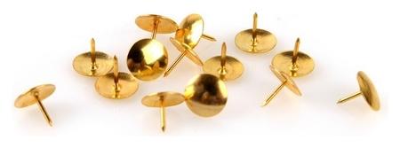Кнопки Attache канцелярские металлические золотые 100 штук в уп., карт.уп  Attache