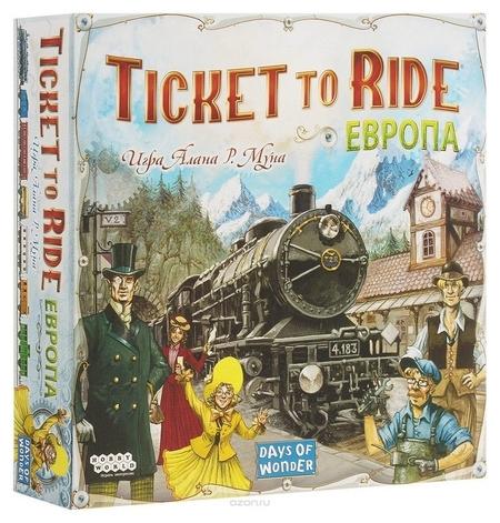 Настольная игра Ticket To Ride: европа 3-е рус. изд. 1032  Hobby World
