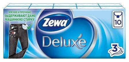Платки носовые Zewa Deluxe 3сл 51174 бел 10штх10  Zewa