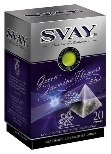 Чай Svay Jasmin Flowers зелен., 20пак.  Svay