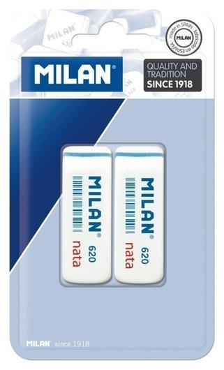 Ластик каучук Milan 620, 2 штуки в блистере (Bpm10044)  Milan
