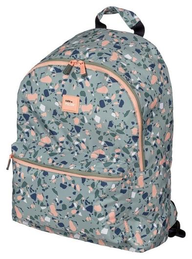 Рюкзак школьный Milan Terrazzo Green 41х30х18 см, зелено-розовый, 624605tzg Milan