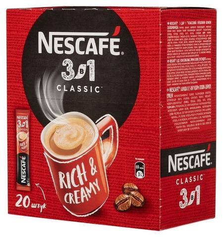 Кофе Nescafe 3 в 1 классический раств., шоу-бокс, 20штx14,5г  Nescafe
