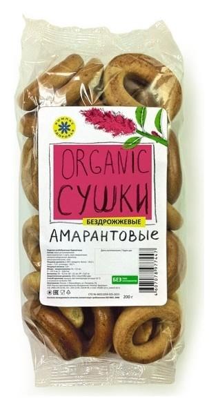 Сушки амарантовые (бездрожжевые)  Компас здоровья