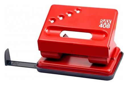 Дырокол SAX 408 30 листов, с линейкой, красный  Sax
