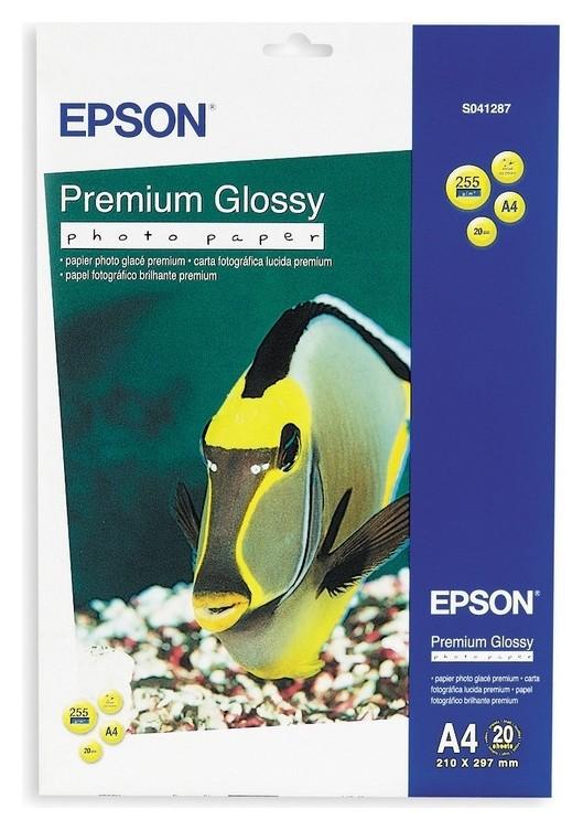 Бумага для цв.струй.печ. Epson S041287 (А4,255г,глянцевая) пачка 20л. Epson