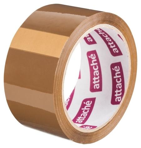 Клейкая лента упаковочная Attache 48мм х 60м 40мкм коричневая  Attache