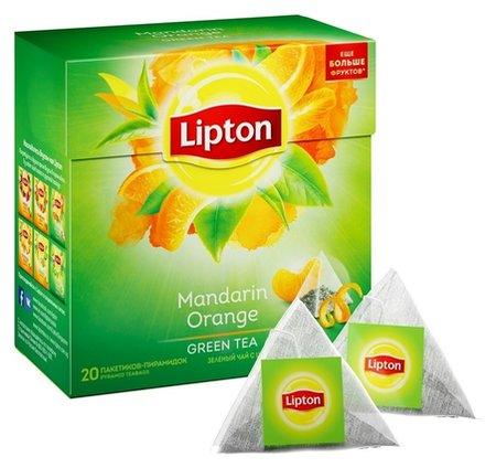 Чай Lipton Green Mandarine Orange зелен. пирамидки 20пак/пач  Lipton