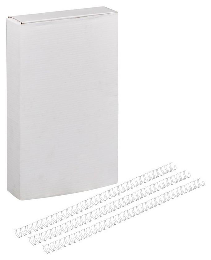 Пружины для переплета металлические Promega Office 7,9мм белые 100шт/уп.  ProMEGA