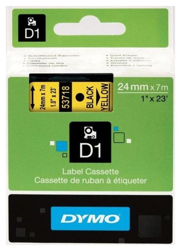 Картридж к этикет-принтеру Dymo S0720980 D1 24ммх7м чер/жел пл. для LM  Dymo
