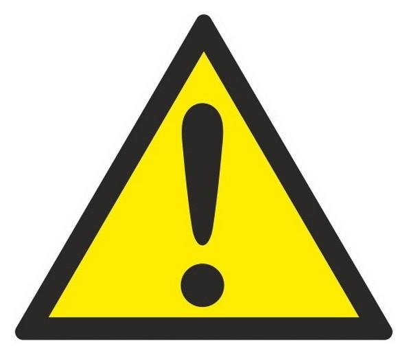 Знак безопасности W09 внимание.опасность(Пр.опас-ти)(плёнка,200х200)  Технотерра