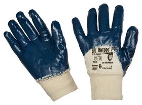 Перчатки защитные ампаро нитрос неполное нитрилов покр резинка (446575)р.10  Ампаро