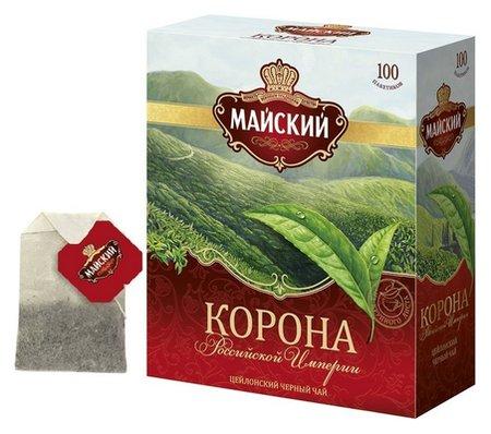 Чай майский корона российской империи черный 100пакx2г  Майский