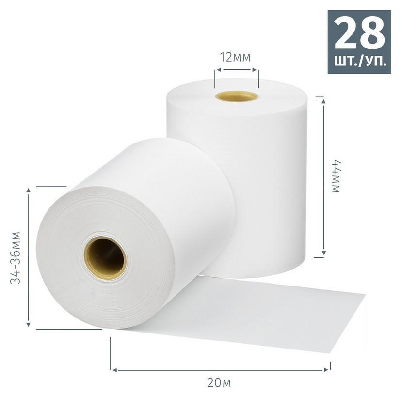 Ролики для касс Promega 44мм (Дл.20м,вт.12,из т/б) 28шт./уп. 11уп/к  ProMEGA
