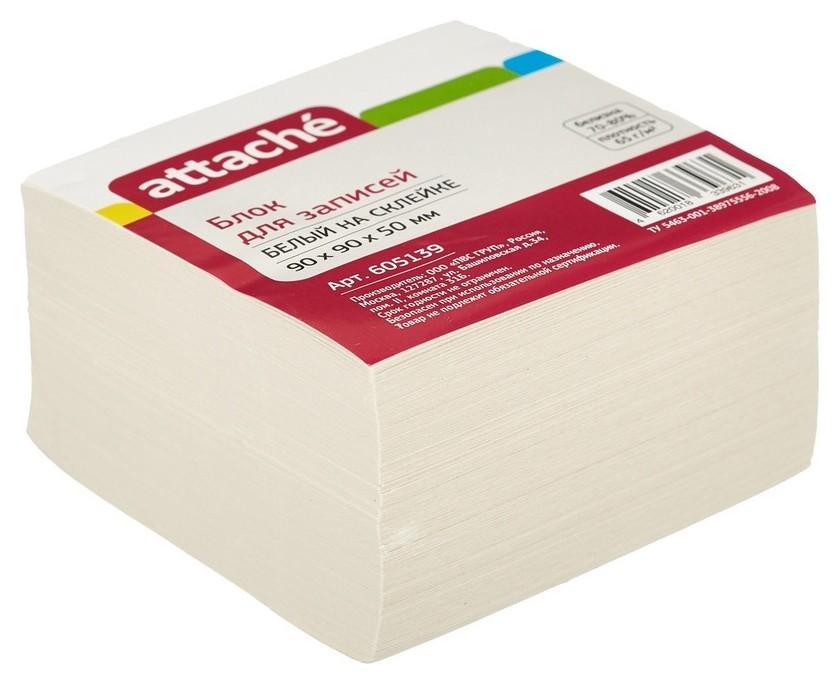 Блок для записей Attache Economy на склейке 9х9х5 белый 65 г/70  Attache