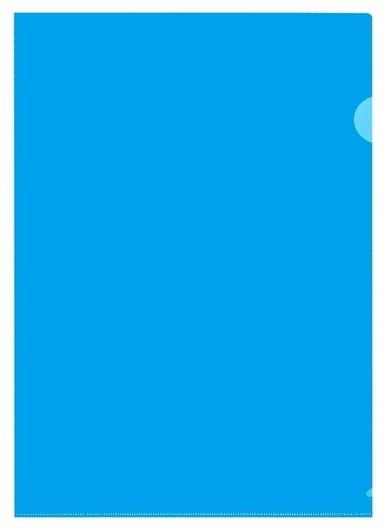 Папка уголок пу-001-пп 120мкр жест.пластик А4 синяя прозр. 20шт/уп  Attache