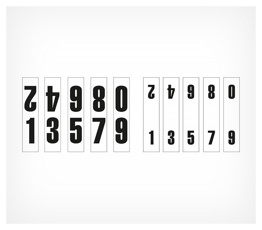 Цифры для кассет цен Vista-num A5 (10 шт/уп)  NNB
