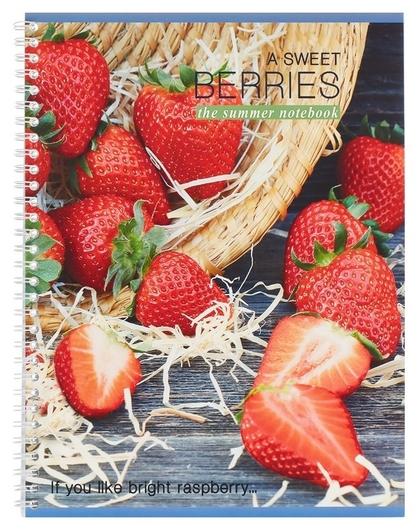 Тетрадь общая а4,80л,кл,гребень, мел.карт. сладкая ягода в ассор то80а49547  Мировые тетради