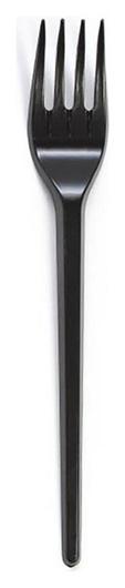 Вилка одноразовая 165мм, черная, бюджет, комус ПС 100шт/уп  Комус