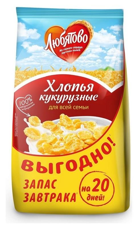 Завтрак хлопья кукурузные любятово, 600г  Любятово