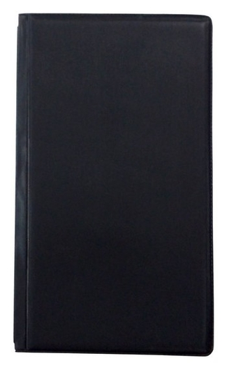 Визитница настольная на 120 визиток трехсекцион.attacheeconomy,пвх,черный  Attache