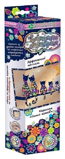 Набор для творчества изготовление картины Семья котов Антистресс  Клевер