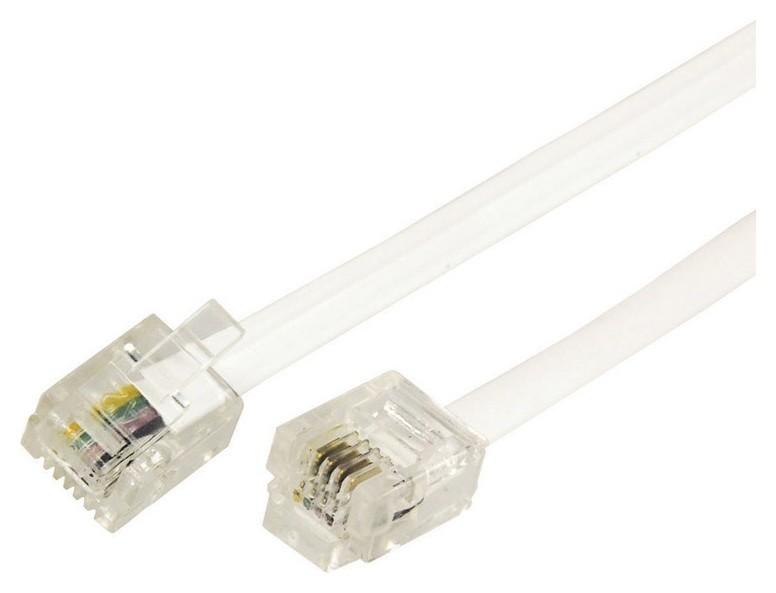 Удлинитель телефонный Rexant 2м белый (18-3021)  Rexant