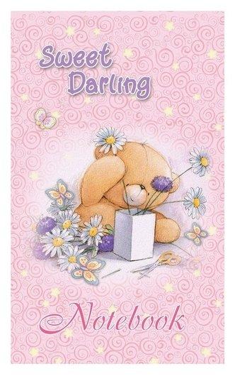 Блокнот а7,40л,клетка,скрепка,обл.мел.карт. Sweet Darling б40а7м186/6 2вида  Мировые тетради